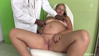Pregnant older woman having threesome sex with a big black cock