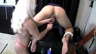 Ashlee Chambers Milks Her Slave
