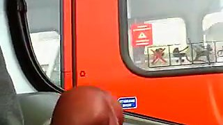 Dick Flashing Sexy Woman in Bus Wants to Lick and Suck it