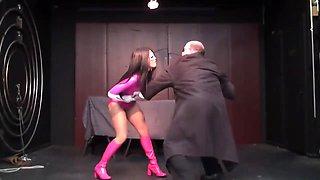 Superheroine Pink Power Ranger Hypnotized Into Being Sex Sl
