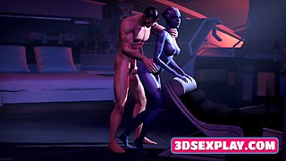 Games 3D Animated Busty Characters Sucked and Rides on a Huge Cock