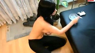 My perverted girlfriend sucks and smokes at the same time
