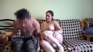 Beauty spanish milf..... fucking with a young chinese boy