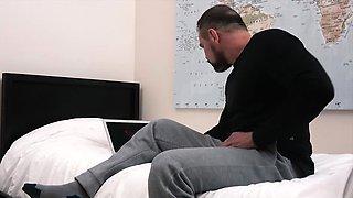 FamilyDick - Bear Daddy Fucks Teen In His Bedroom