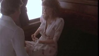Sexy Retro Babe Kate Capshaw Gets Banged On a Train In a Hot Sex Scene