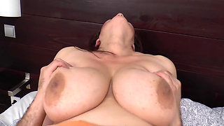 morning sex with busty mature