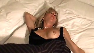 Huge toy and fisting of pierced MILF