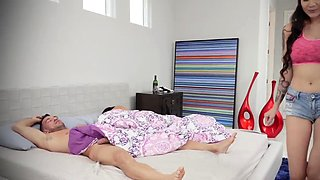 Taboo army handjob compilation Family Shares A Bed