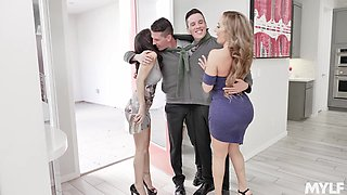 Foursome fucking in the bed with Richelle Ryan and Alana Cruise