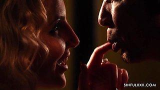 Secret lovers make love in the dim light