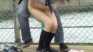 Japanese ladies get rid of the panties in public places