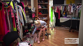 Sexy Jessie Saint is changing clothes and getting naked in the process